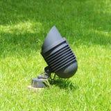 Sluit omhoog schijnwerper in tuin Stock Foto