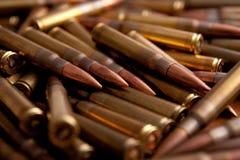 Sluit omhoog spruit van munitie Royalty-vrije Stock Foto