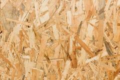 Sluit omhoog textuur van georiënteerde bundelraad (OSB) Royalty-vrije Stock Fotografie