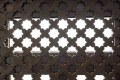 Sluit omhoog traliewerk op het venster in stijl аrabic Royalty-vrije Stock Afbeeldingen