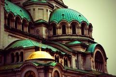 Sluit omhoog van Alexander Nevsky Cathedral, Sofia royalty-vrije stock fotografie