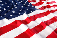 Sluit omhoog van Amerikaanse vlag Royalty-vrije Stock Afbeelding