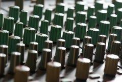 Audio mixer abstract close-up Stock Foto