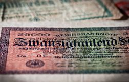 Sluit omhoog van bankbiljet Stock Afbeelding