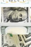 Sluit omhoog van bankbiljet Stock Foto's