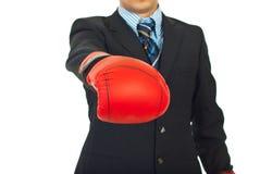 Sluit omhoog van bokshandschoenen Royalty-vrije Stock Foto's