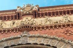 Sluit omhoog van boog in Barcelona stock foto
