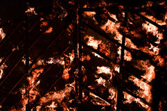 Sluit omhoog van brand Stock Foto's