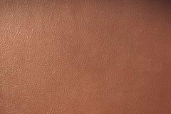 Sluit omhoog van bruine leerachtergrond of textuur stock fotografie