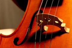 Sluit omhoog van cello Stock Fotografie