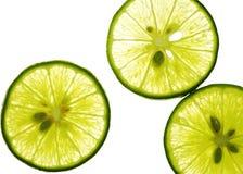 Sluit omhoog van citroensectie Stock Foto