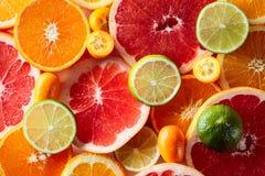 Sluit omhoog van citrusvruchten Stock Fotografie