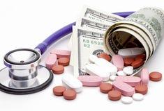 Sluit omhoog van concepten farmaceutisch beeld Stock Afbeeldingen