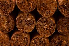 Sluit omhoog van Cubaanse sigaren stock fotografie