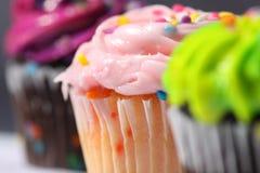 Sluit omhoog van Cupcakes Royalty-vrije Stock Afbeeldingen