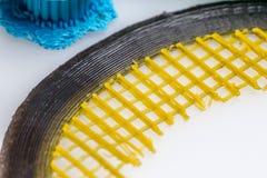 Sluit omhoog van 3D druk zichtbare mislukking en slechte kwaliteitsdruk Stock Foto's