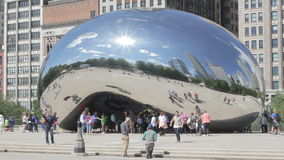 Sluit omhoog van de boon in Chicago stock footage