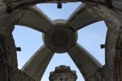 Sluit omhoog van de bovenkant van de fontein van Carmo stock afbeelding
