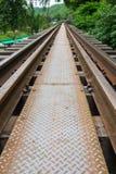 Sluit omhoog van de brug van de Doodsspoorweg Stock Foto