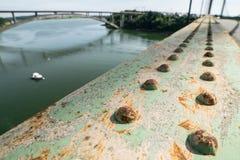 Sluit omhoog van de details van de brug stock fotografie