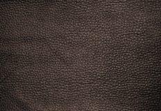 Sluit omhoog van de Donkere Bruine Achtergrond van de Leertextuur Royalty-vrije Stock Afbeeldingen