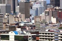 Sluit omhoog van de Gebouwen van het Stadscentrum in Durban royalty-vrije stock afbeelding