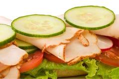 Sluit omhoog van de geroosterde sandwich van Turkije Royalty-vrije Stock Afbeelding