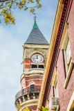 Sluit omhoog van de klok bij St Paul ` s Kapel royalty-vrije stock afbeeldingen