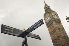 Sluit omhoog van de klokketoren van de Big Ben in Londen Royalty-vrije Stock Afbeelding