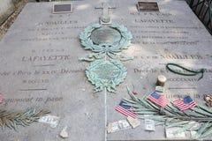 Sluit omhoog van de laatste rustende plaats van Algemeen Lafayette stock afbeelding