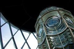 Sluit omhoog van de Lamp van de Vuurtoren Stock Afbeeldingen