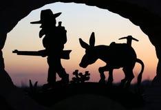 Sluit omhoog van de welkom tekenrubriek in Apache-Verbinding, Arizona royalty-vrije stock fotografie