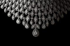 Sluit omhoog van diamanthalsband Stock Foto