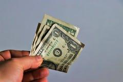 Sluit omhoog van 1 dollarbankbiljetten stock foto