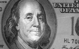 Sluit omhoog van dollarrekening Stock Foto