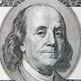 Sluit omhoog van dollarrekening Royalty-vrije Stock Foto