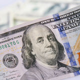 Sluit omhoog van dollarrekening Stock Foto's