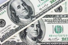 Sluit omhoog van dollarrekening Royalty-vrije Stock Afbeeldingen