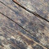 Sluit omhoog van doorstaan houten paneel Stock Foto