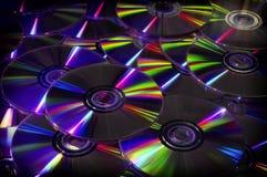 Sluit omhoog van DVD en CD Royalty-vrije Stock Fotografie