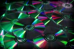 Sluit omhoog van DVD en CD Royalty-vrije Stock Afbeelding