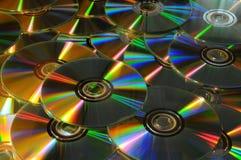 Sluit omhoog van DVD en CD Stock Fotografie