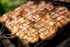Sluit omhoog van een barbecue. Royalty-vrije Stock Afbeeldingen