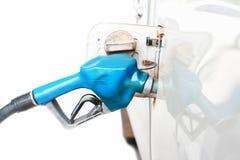 Sluit omhoog van een benzinestation Stock Fotografie