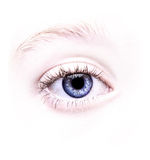 Sluit omhoog van een blauw oog Stock Foto