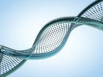 Sluit omhoog van een diagonale DNA-ketting tegen een achtergrond 3d geef terug Stock Foto
