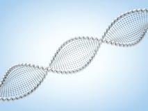 Sluit omhoog van een diagonale DNA-ketting tegen een achtergrond 3d geef terug Royalty-vrije Stock Fotografie