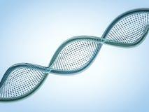 Sluit omhoog van een diagonale DNA-ketting tegen een achtergrond 3d geef terug Stock Afbeeldingen