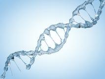 Sluit omhoog van een diagonale DNA-Ketting van water 3d Stock Afbeelding