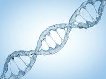 Sluit omhoog van een diagonale DNA-Ketting van water 3d Stock Foto